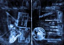 Passport. Abstract grunge passport and visas Stock Photo