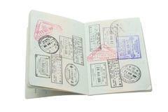Passport. On Isolated White Background Stock Image