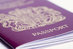 Passport. A closeup shot of a passport on a white background Royalty Free Stock Photography
