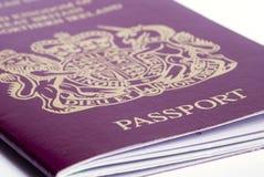 Passport. A closeup shot of a passport on a white background Royalty Free Stock Photo