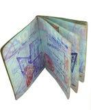 Passport. Open us passport with visa stamps Royalty Free Stock Photo