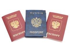 Passport. Object on white - russian passport Stock Photo