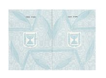 Passport. Pages of old Israeli passport useful for background Royalty Free Stock Photography