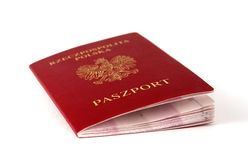 Passport. Polish passport (Poland royalty free stock photo