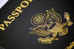 Passport. Close up of a passport royalty free stock image