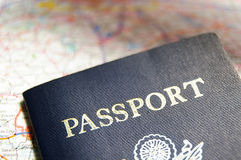 Passport And Map Royalty Free Stock Images