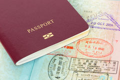 Free Passport And Visa Immigration Stamps Royalty Free Stock Photo - 37072155