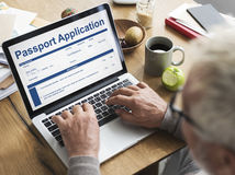 Passport Application Form FIlling Concept Stock Photography