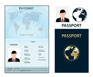 Passport with biometric data. Identification Document. Royalty Free Stock Photo