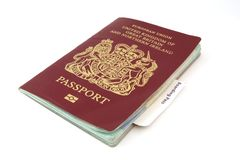 Passport With Boarding Card royalty free stock image