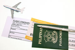 Passport And Boarding Pass Royalty Free Stock Photography