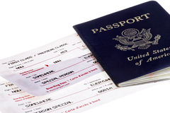 Passport with Boarding pass Royalty Free Stock Images