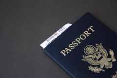 Passport and boarding pass Royalty Free Stock Photos
