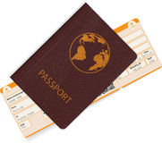 Passport and boarding pass Stock Image