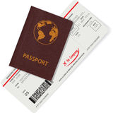 Passport and boarding pass isolated on white Stock Photos