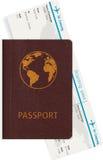 Passport and boarding pass Stock Photos