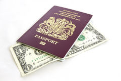 Passport Cash Stock Photos