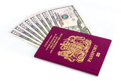 Passport Cash Royalty Free Stock Photo