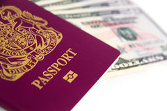 Passport Cash Royalty Free Stock Image
