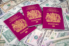 Passport Cash Royalty Free Stock Photography