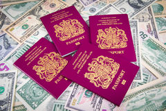 Passport Cash Royalty Free Stock Photos