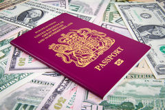 Passport Cash Stock Image
