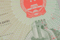 Passport Chinese visa for travel concept Royalty Free Stock Images