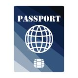 Passport with chip icon royalty free illustration