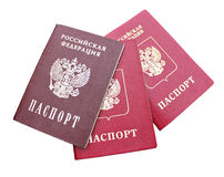 The passport of a citizen of  Russian Federation isolated Royalty Free Stock Image