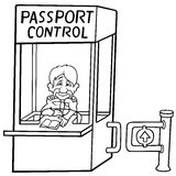 Passport Control Royalty Free Stock Photo