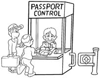 Passport Control Stock Photos