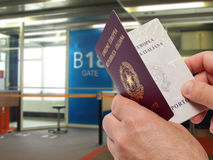 Passport control Stock Images