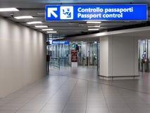 Passport control Stock Photography