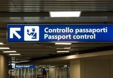 Passport control Stock Images