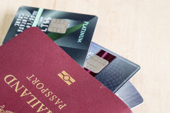 Passport with credit card Royalty Free Stock Photography
