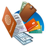 Passport and credit cards Royalty Free Stock Photography