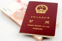 Passport and currency Stock Photography