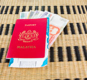 Passport and Currency II Stock Photos