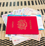 Passport and Currency III Royalty Free Stock Photo