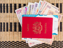 Passport and Currency VII Stock Photography