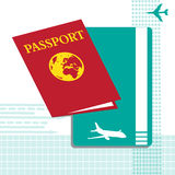 Passport and flying ticket Royalty Free Stock Images