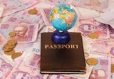 Passport and globe Royalty Free Stock Photo