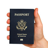 Passport in hand Stock Photography