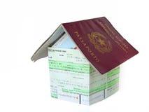Passport home Stock Photography
