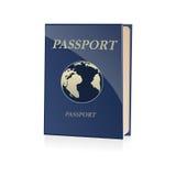 Passport icon. Illustration of passport icon on white background Royalty Free Stock Photography