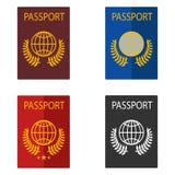 Passport, foreign passport. Passport icon. Flat design, illustration stock illustration