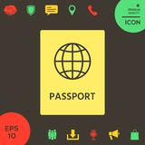 Passport icon. symbol. Passport icon. . Signs and symbols - graphic elements for your design royalty free illustration