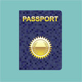 Passport Icon vector Royalty Free Stock Image