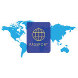 Passport icon. Vector illustration in flat style Royalty Free Stock Photos