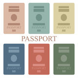 Passport. Illustration of a collection of passport book Royalty Free Stock Photo
